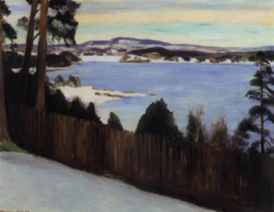 Erik Theodor Werenskiold - Fra lysaker vinterstid