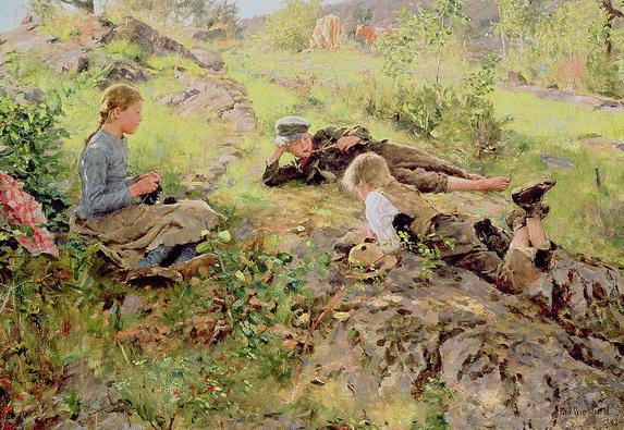 Erik Theodor Werenskiold - Shepherds Tatoy
