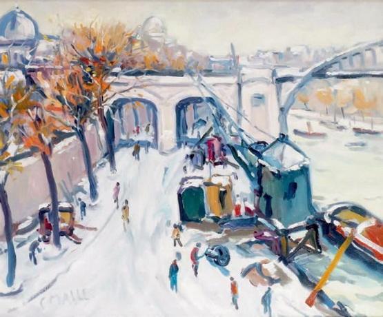 Charles Malle - Les quais sous la neige