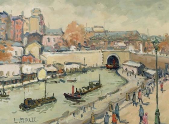 Charles Malle - Le canal St-Martin, rond-point la Villette