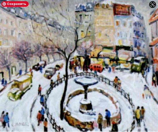 Charles Malle - Paris, place Pigalle sous la neige