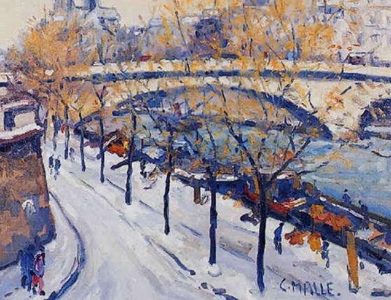 Charles Malle - Paris, la Seine - Pont de la Tournelle