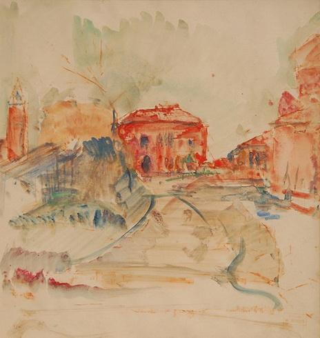 Marcel Jefferys - Paysage urbain