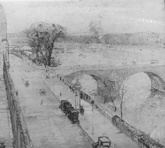 Marcel Jefferys - La Seine au Pont-Royal