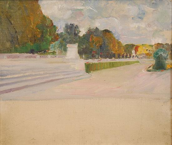 Marcel Jefferys - Esquisse de vue de parc