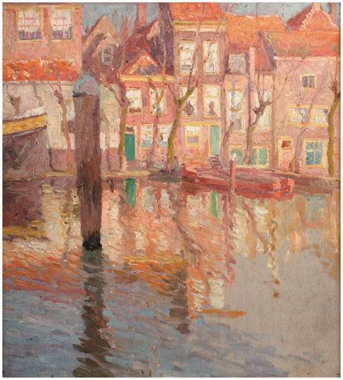 Emmanuel Vierin - Canal in Dordrecht