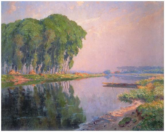 Emmanuel Vierin - Landschap aan de Leie