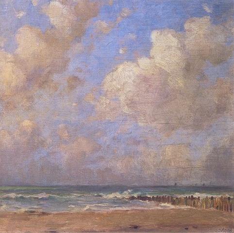 Emmanuel Vierin - Plage, mer et nuages
