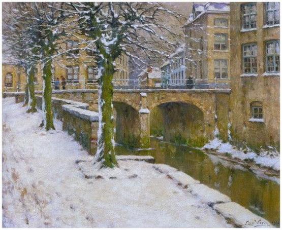 Emmanuel Vierin - Pont sous la neige