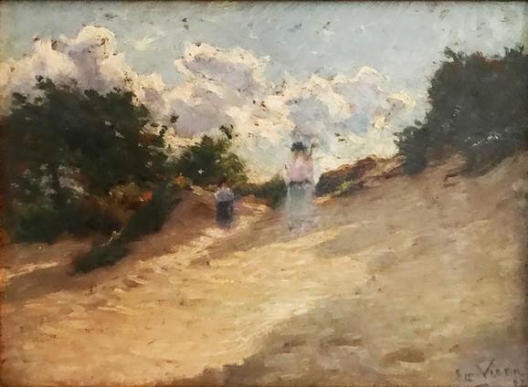 Emmanuel Vierin - Femme et enfant dans les dunes