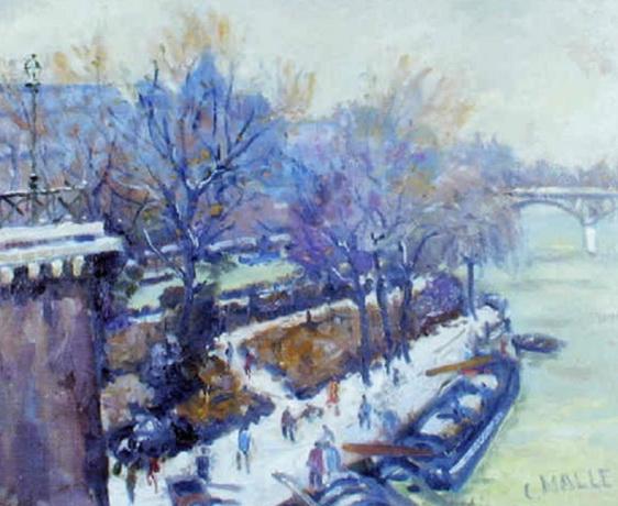 Charles Malle - Paris, la Seine au Vert Galant