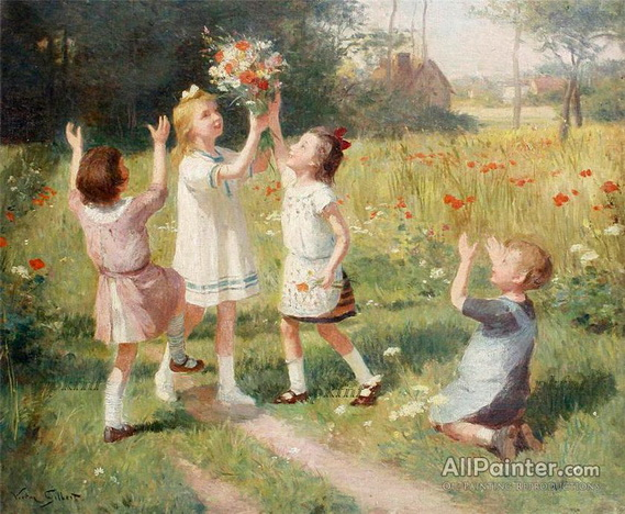 Victor Gilbert - picking wild flowers