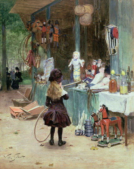 Victor Gilbert - At the Champs Elysees Gardens