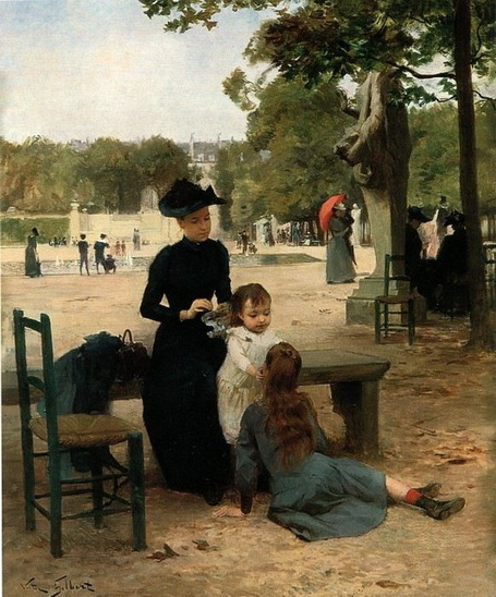 Victor Gilbert - Le jardin du Luxembourg