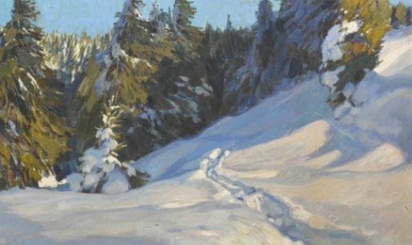 Ernst Hodel Junior - Snowy landscape