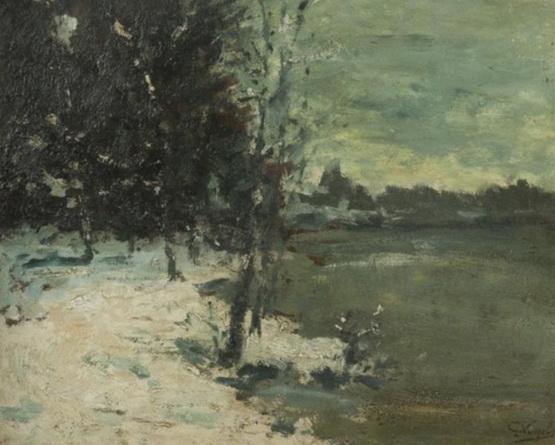 Guillaume Vogels - Paysage enneige