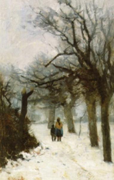 Guillaume Vogels - Weg in de sneeuw