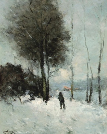 Guillaume Vogels - Chemin dans la neige