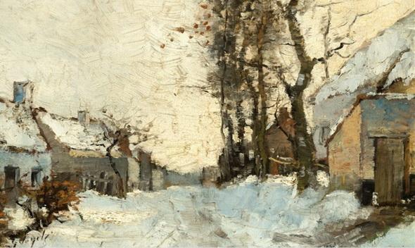 Guillaume Vogels - A Village under the Snow