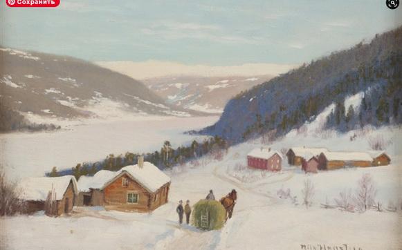 Nils Hansteen - Vinterlandskap