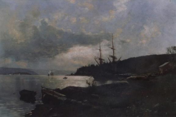 Nils Hansteen - Landskap fra Oslofjorden