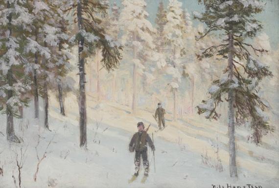 Nils Hansteen - Vinterlandskap 3
