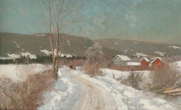 Nils Hansteen - Vinterlandskap 2