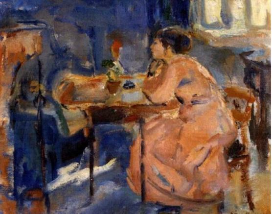 Soren Onsager - Interior med kvinne