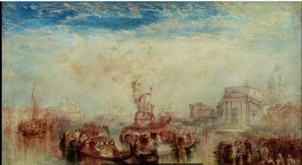 J. M. W. Turner - Depositing of John Bellini's Three Pictures in La Chiesa Redentore, Venice, 1841