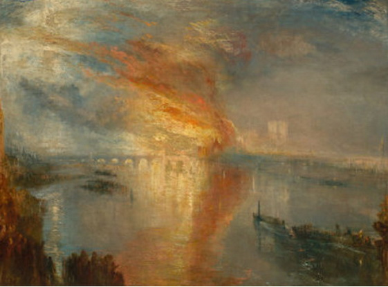 J. M. W. Turner - The Burning of the Houses of Lords and Commons 2