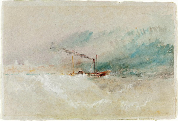 John W. Taylor - a packet-boat off Dover