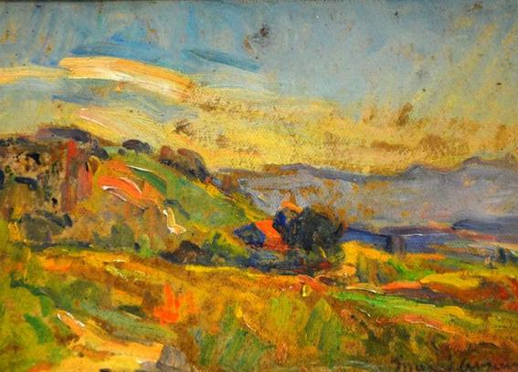 Marcel Arnaud - Paysage aux environs d'Eguilles