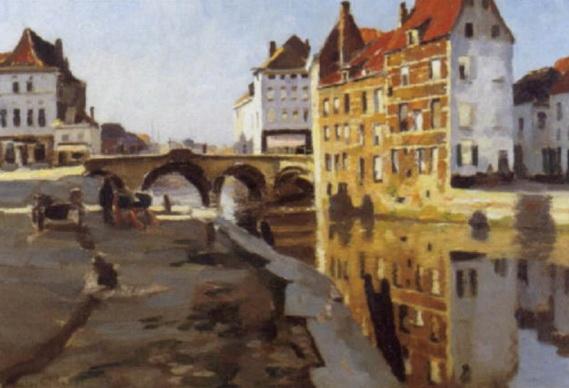 Victor Gilsoul - Le pont gothique a Malines