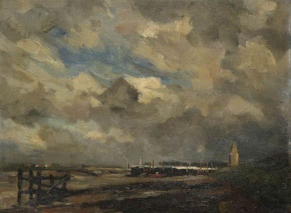 Victor Gilsoul - Estacades au bord de la rive