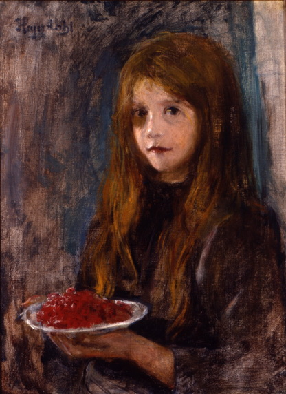Hans Heyerdahl - Girl with strawberries