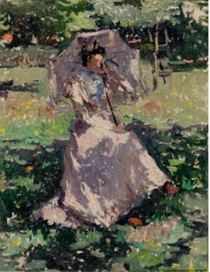 Isidore Verheyden - Femme a l'ombrelle