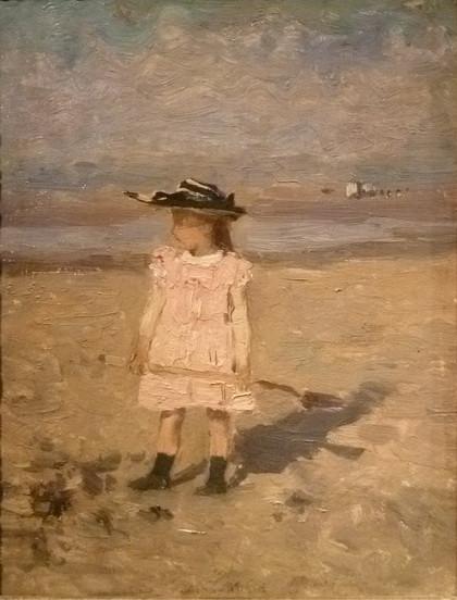 Isidore Verheyden - Little girl on the beach