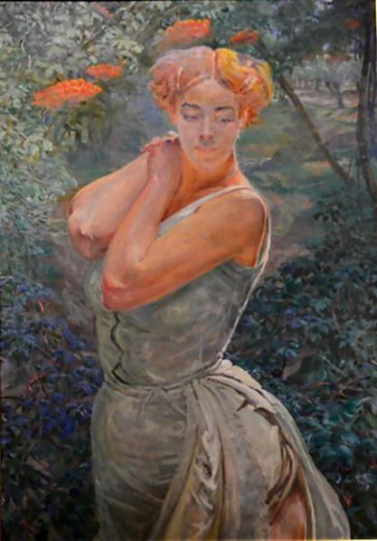 Jacek Malczewski - Portrait of a Young Woman