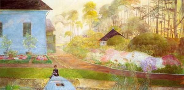 Jacek Malczewski - Garden at the Pond