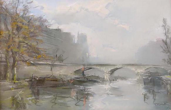 Pierre-Jacques Pelletier - Le Pont Marie a Paris