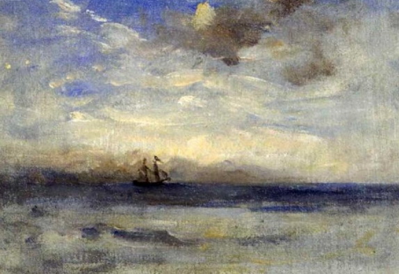 Nathaniel Hone the Younger - Study, sea and brig