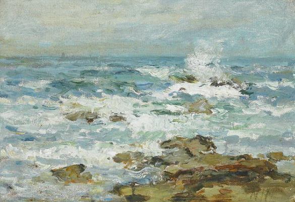 Nathaniel Hone the Younger - rocks and surf