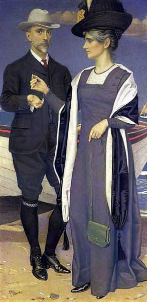 Joseph Edward Southall - Portrait of the Artist and his Wife