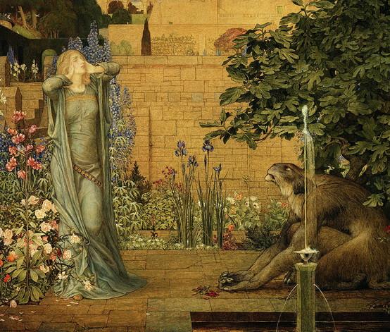 Joseph Edward Southall - beauty and the beast
