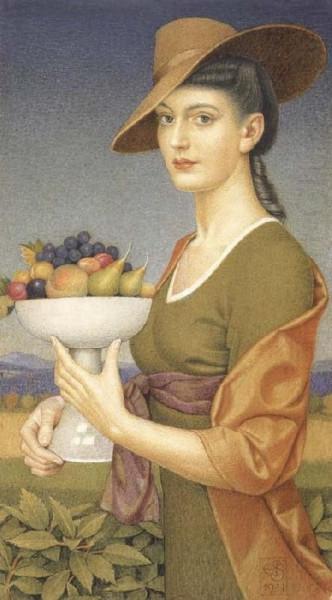 Joseph Edward Southall - A Dish of Fruit