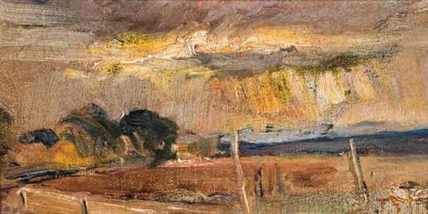 Tom Roberts - Landscape with Fence