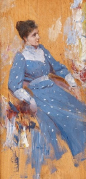 Tom Roberts - The Blue dress