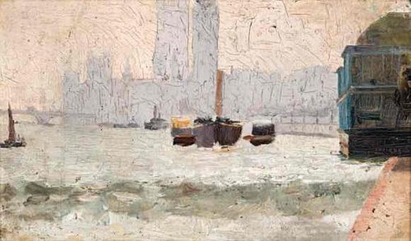 Tom Roberts - Thames Scene