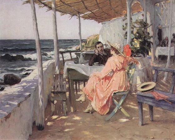 Jose Malhoa - praia das macas 1918
