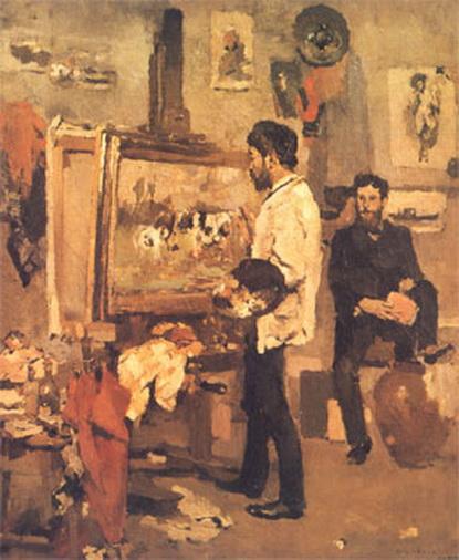 Columbano Bordalo Pinheiro - Pinheiro in Atelier